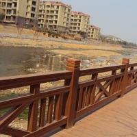 木纹漆 户外水泥围栏仿木纹效果 环保水性木纹漆工艺
