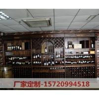 实木红酒展示柜 整套红酒展示柜 红酒展示柜定制
