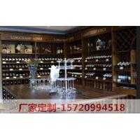 实木酒窖酒柜定做 酒窖红酒展示柜 酒吧葡萄酒防腐防潮