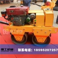手扶式双轮压路机优点 小型振动压路机图片 手扶双轮汽油压实碾