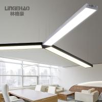 林格豪办公室吊灯具写字楼会议室书房办公照明led长条灯T5日