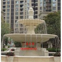 喷水池石雕 叠水钵石雕 大型石雕喷泉