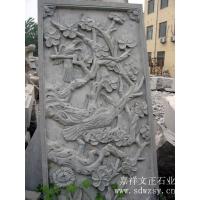 石雕壁画,石壁画,喜鹊闹梅