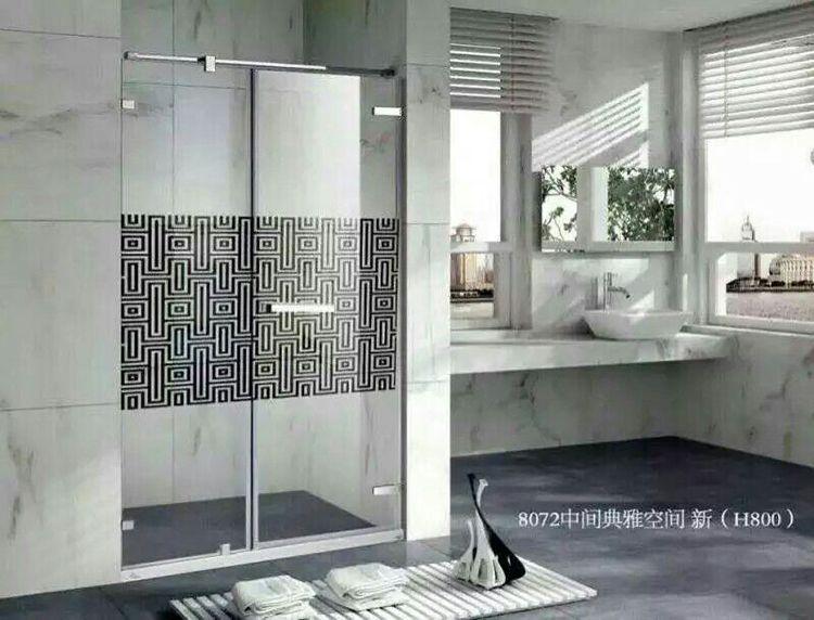防紫外线欧式low-e 定制钢化整体淋浴房玻璃