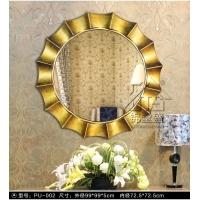 装饰仿古挂镜 客厅背景墙挂镜 仿铜欧式圆形镜沙河直销