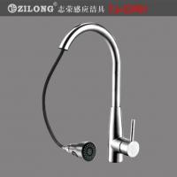 304不锈钢抽拉式厨房感应水龙头TJ-CP01冷热菜盆龙头
