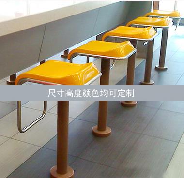 快餐粉店玻璃钢吧凳
