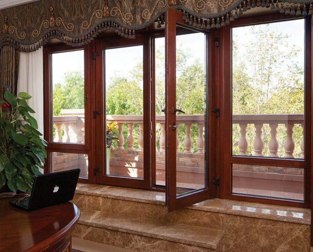 供应弗兰米德门窗68系铝包木 铝木复合门窗