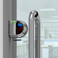 无线玻璃门禁 无线智能玻璃门禁 无线双门玻璃指纹锁