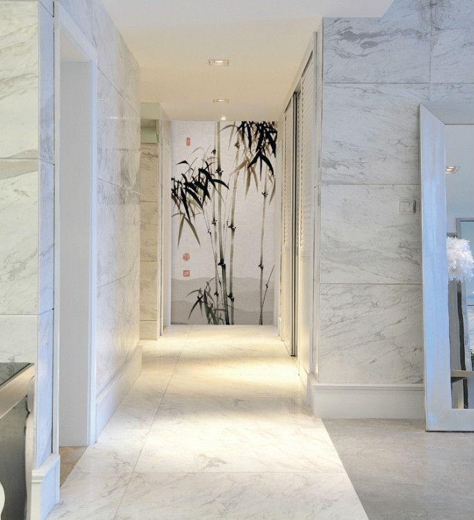 走廊玄关 无缝壁画 水墨型 节节高
