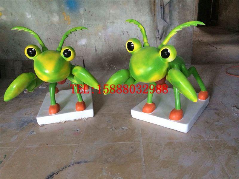 玻璃钢雕塑各种昆虫彩绘树脂定做各种卡通动物模型游乐场摆件