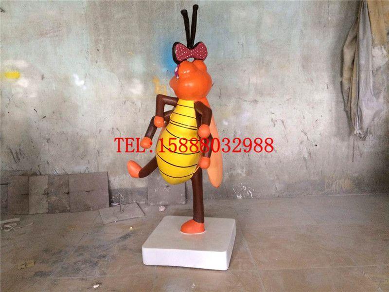 玻璃钢雕塑各种昆虫彩绘树脂定做各种卡通动物模型场