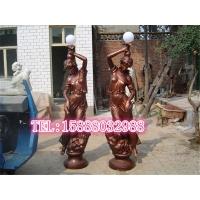 铸铜美女树脂模型摆件