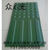 长春众光全瓷绿色盲道砖地铁用300绿色盲道砖
