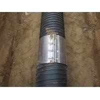 聚乙烯塑钢缠绕管不锈钢卡箍连接方法
