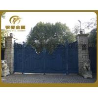 银昊定制电动铁艺大门、电动平移门、定制铁艺大门