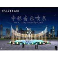 中铭石业不锈钢雕塑音乐喷泉