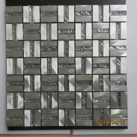 ALUMINIUM MIX GLASS MOSAIC 铝材玻