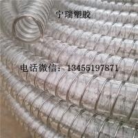 耐压耐高温输酒管DN45mmpu不锈钢丝平滑输送管