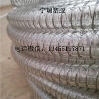 TPU透明钢丝胶管DN50食品级耐酸碱腐蚀液体罐装输送管