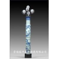 青花瓷灯柱