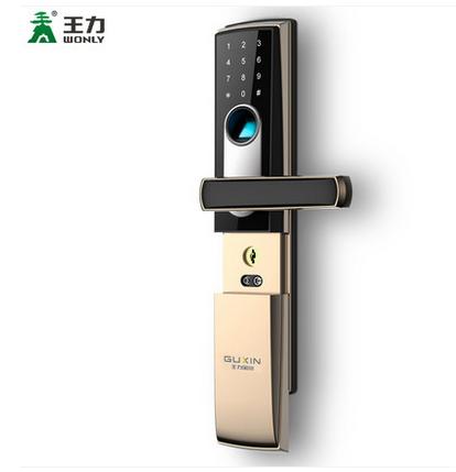 王力指纹锁防盗门家用智能安全门电子密码锁大门房门