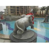 喷水石象、花岗岩石象、园林喷泉石雕、小区景观喷泉