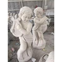 黄锈石小天使、西欧人物、人物雕刻、花岗岩人物