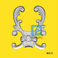 广州诺步艺铸造铝艺花件配件 铝艺大门装饰件