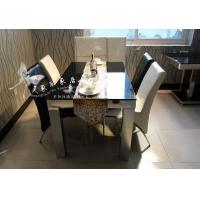 供应现代简约不锈钢餐桌椅大理石台面
