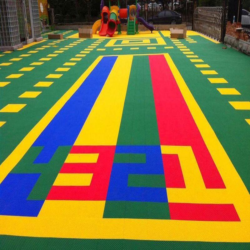 悬浮地板 石家庄幼儿园专用悬浮地板 pp材质