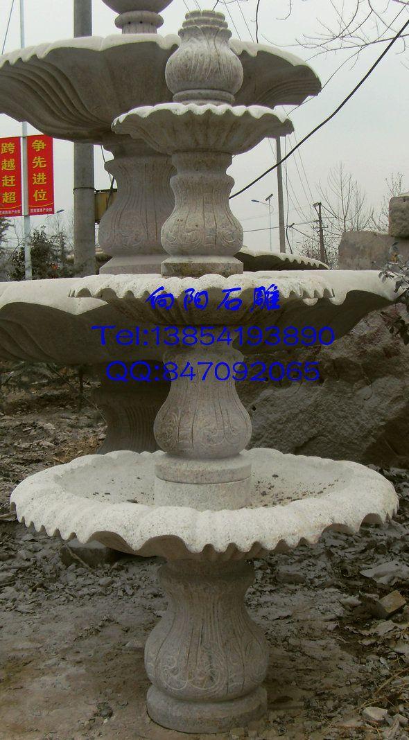 现代雕塑喷泉景观手绘