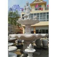 现货石雕喷泉、五莲红石雕水钵、黄锈石石雕喷泉