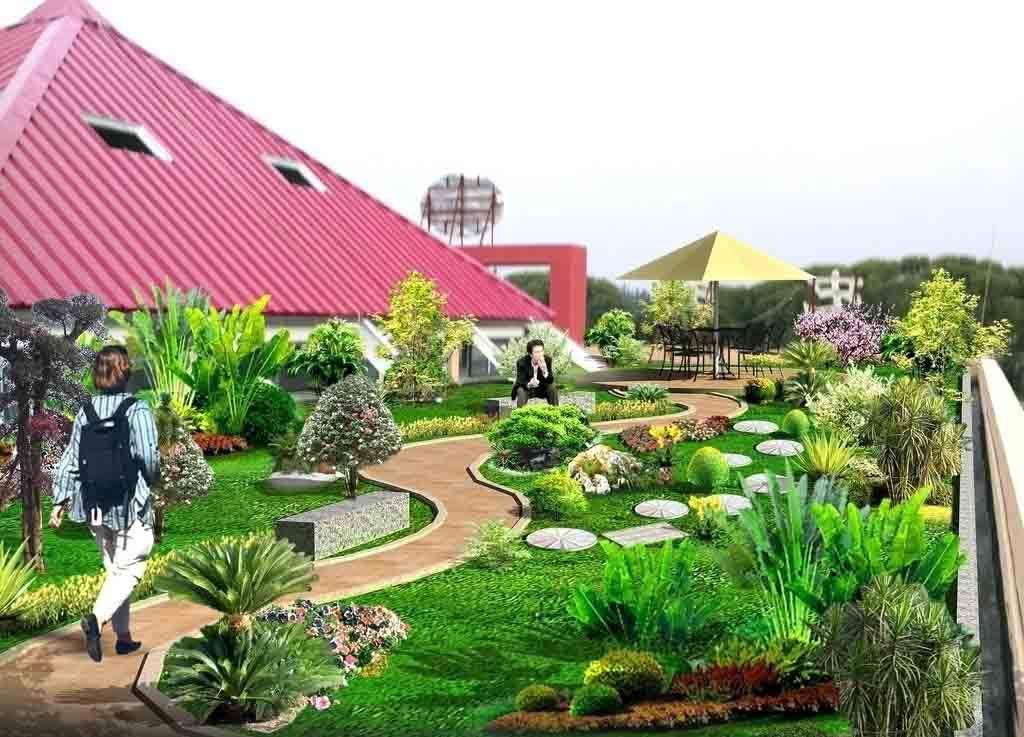屋顶花园设计 别墅花园景观设计 室内景观设计