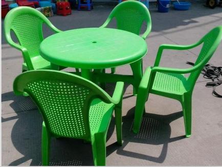 全新料塑料桌椅,绿色塑料桌椅,红色大排档桌椅