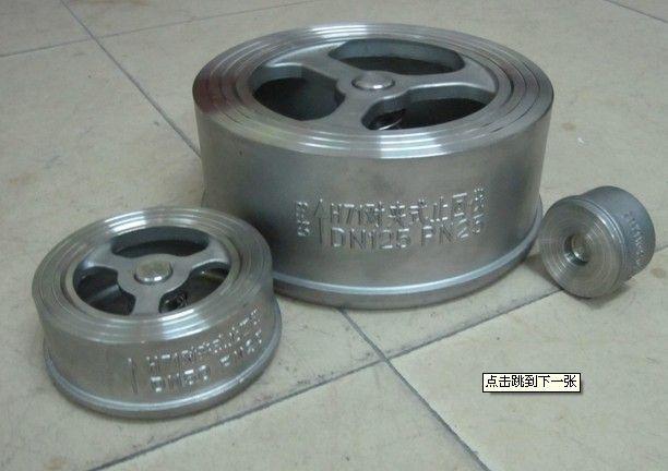 316不锈钢单瓣h71w-16p对夹式止回阀图片