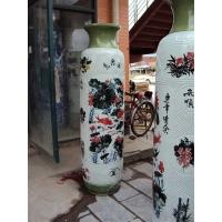2.2米落地大花瓶 上海陶瓷大花瓶定做 上海礼品大花瓶