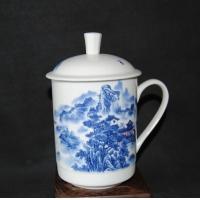 上海青花瓷会议杯  上海办公礼品茶杯