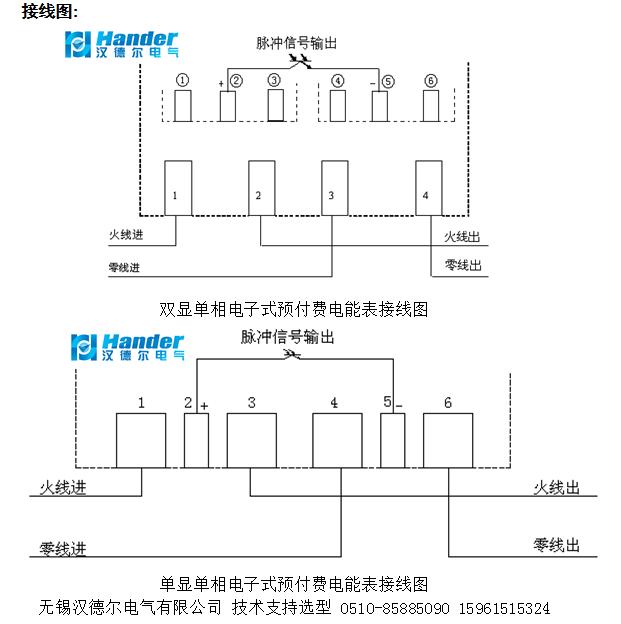 预付费电表 单相式预付费电表接线图 应用方案及其
