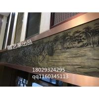 铝板雕刻金属壁画清明上个图