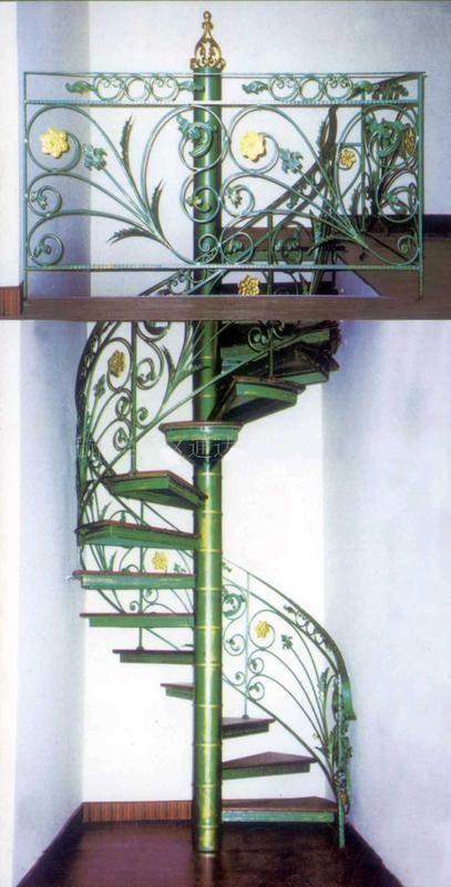 厂家制作楼梯扶手 旋转楼梯大门护栏旋转楼梯