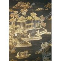 供应观海轩手绘丝绸墙纸