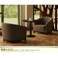 时尚高档会所洽谈围椅沙发咖啡厅布艺单人沙发简约接待卡座沙发