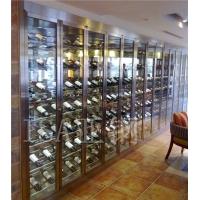 家居老湿影院48试不锈钢酒柜供应商,不锈钢隐藏老湿影院48试酒柜定制