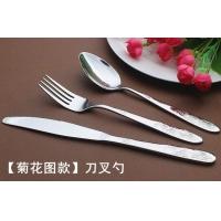 刀叉套装 不锈钢 牛排刀叉勺 24件套送礼 高档西餐餐具