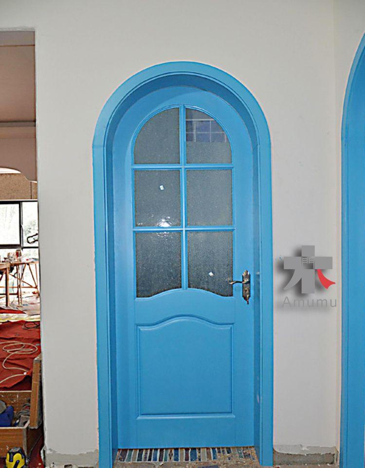 爆款拱形烤漆门圆门室内门地中海风格卧室套装门拱门实木门