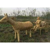 稻草人工艺品-牛拉车稻草人工艺品
