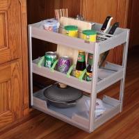 优质调料拉篮 橱柜抽屉拉篮 三层橱柜铝合金拉篮