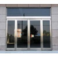 专业订做不锈钢玻璃门 自动玻璃门 无框钢化玻璃门 商铺玻璃门