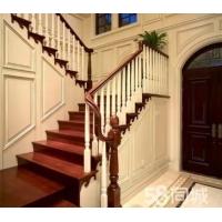 武汉定制实木楼梯 钢木楼梯 楼梯扶手 护墙板 踢脚线